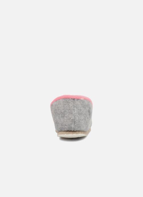 Hausschuhe Rondinaud Carbini grau ansicht von rechts