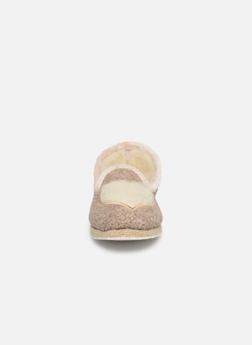 Chaussons Rondinaud Mercoeur Beige vue portées chaussures