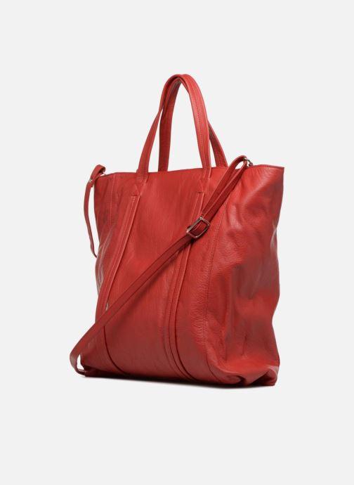 Handtaschen Aridza Bross 3696 rot ansicht von rechts