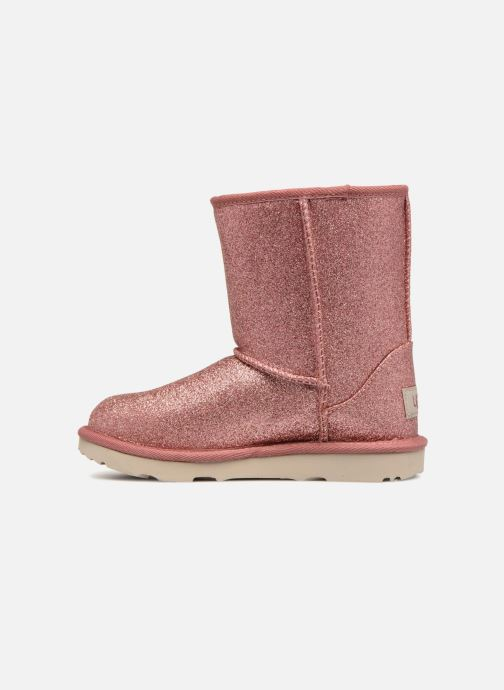 Stiefeletten   Boots UGG Classic Short II Glitter K rosa ansicht von vorne 1da3201c73