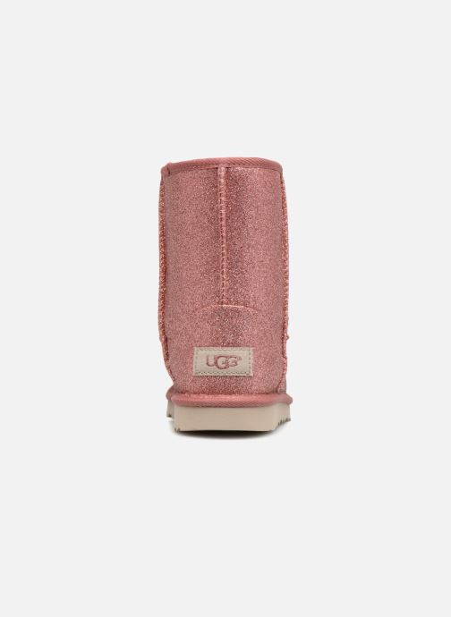 Bottines et boots UGG Kids' Classic Short II Glitter Rose vue droite