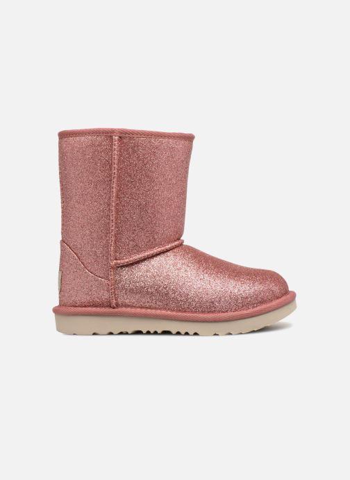 Stiefeletten & Boots UGG Classic Short II Glitter K rosa ansicht von hinten
