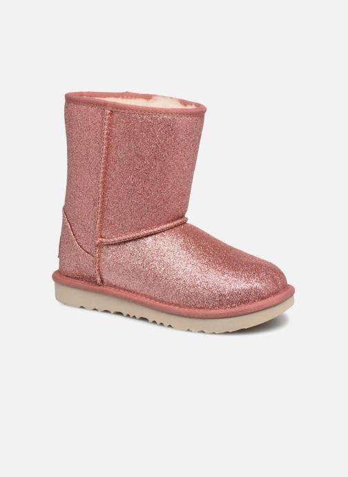 Bottines et boots UGG Kids' Classic Short II Glitter Rose vue détail/paire