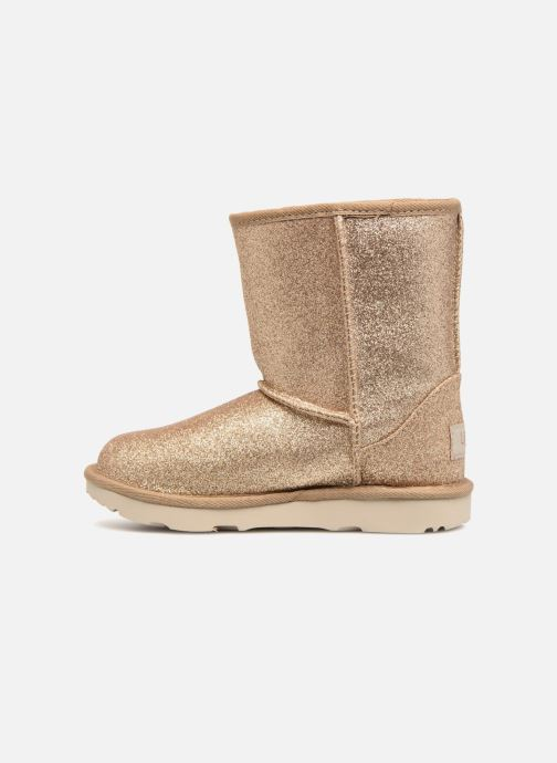 Bottines et boots UGG Kids' Classic Short II Glitter Or et bronze vue face