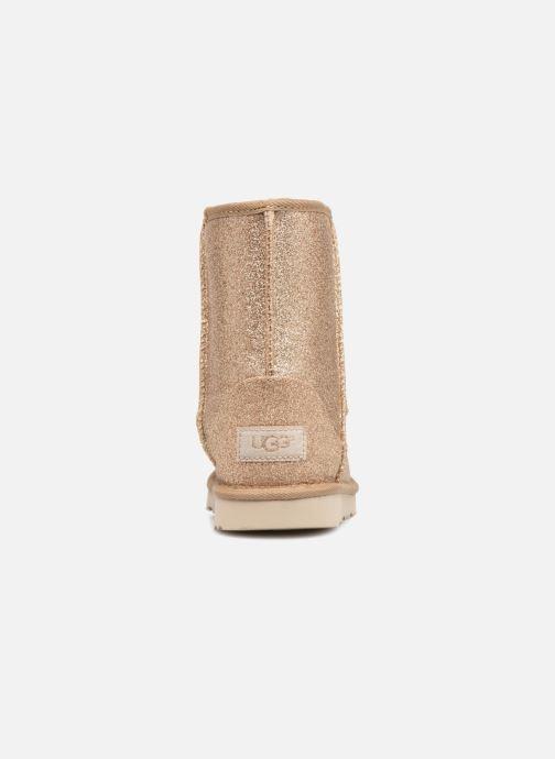 Bottines et boots UGG Kids' Classic Short II Glitter Or et bronze vue droite