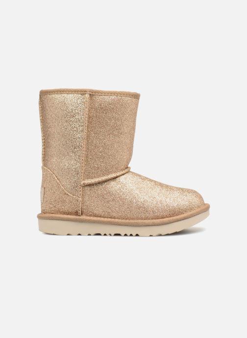Bottines et boots UGG Kids' Classic Short II Glitter Or et bronze vue derrière