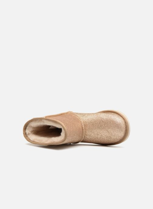 Bottines et boots UGG Kids' Classic Short II Glitter Or et bronze vue gauche