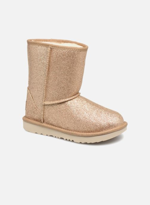 Bottines et boots UGG Kids' Classic Short II Glitter Or et bronze vue détail/paire