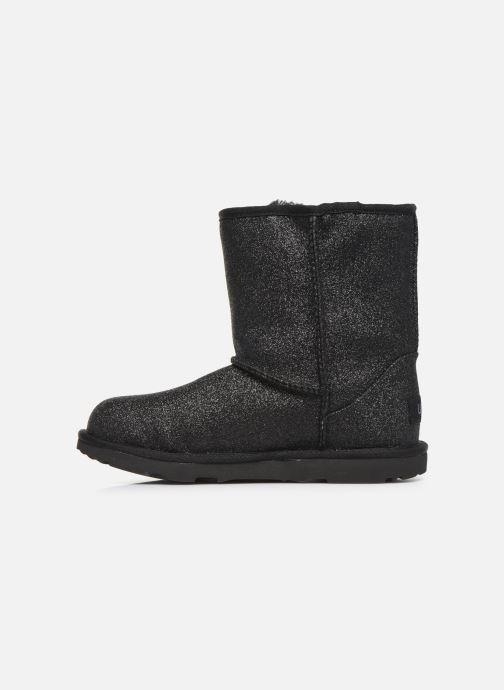 Boots en enkellaarsjes UGG Kids' Classic Short II Glitter Zwart voorkant