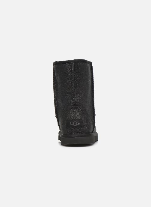 Boots en enkellaarsjes UGG Kids' Classic Short II Glitter Zwart rechts