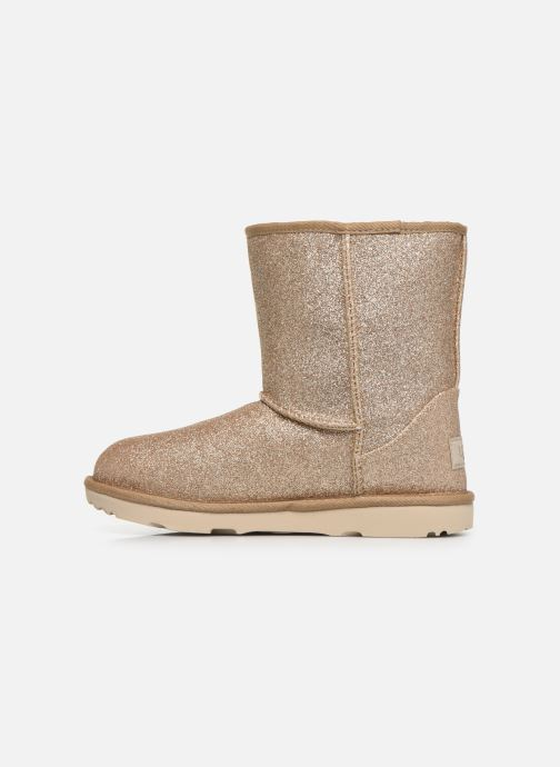 Bottines et boots UGG Kids' Classic Short II Glitter Or et bronze vue face