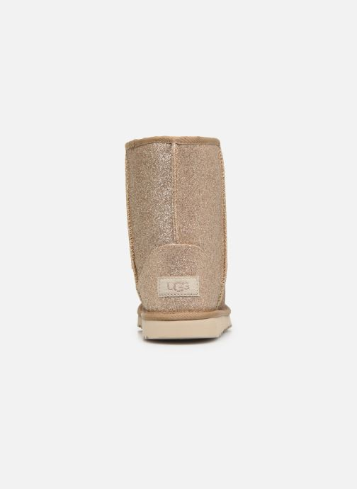 Ankle boots UGG Kids' Classic Short II Glitter Bronze and Gold view from the right