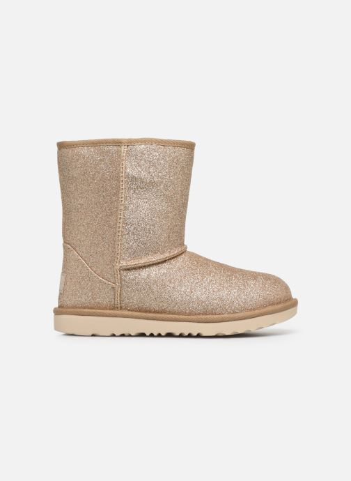 Ankle boots UGG Kids' Classic Short II Glitter Bronze and Gold back view