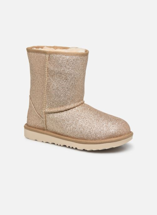 Ankle boots UGG Kids' Classic Short II Glitter Bronze and Gold detailed view/ Pair view