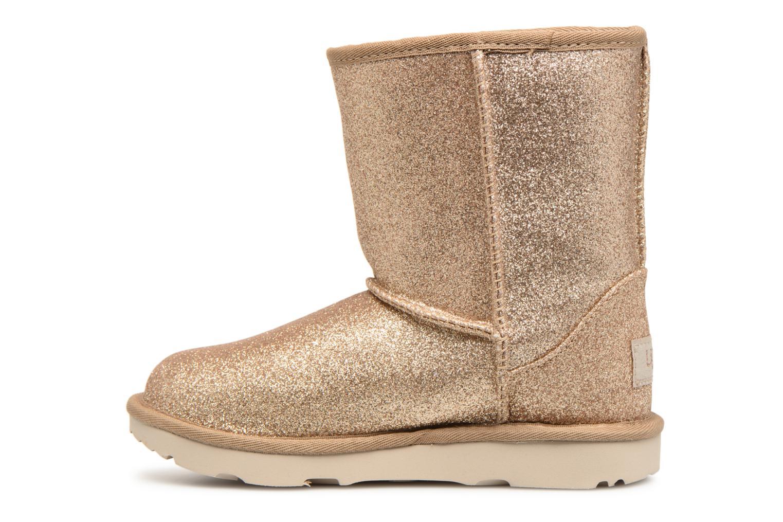Bottines et boots UGG Classic Short II Glitter K Or et bronze vue face