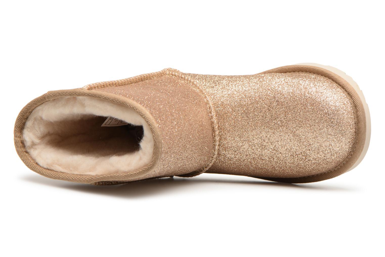 Bottines et boots UGG Classic Short II Glitter K Or et bronze vue gauche