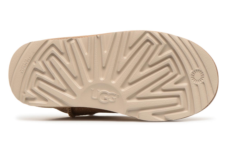Bottines et boots UGG Classic Short II Glitter K Or et bronze vue haut
