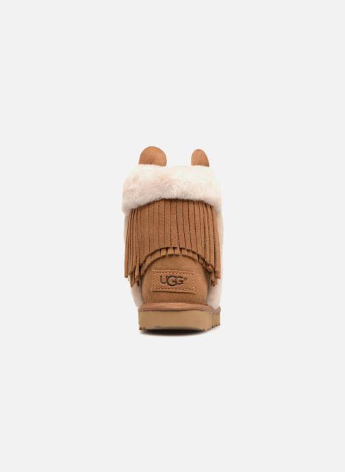 Stiefel UGG K Darlala Classic II braun ansicht von rechts