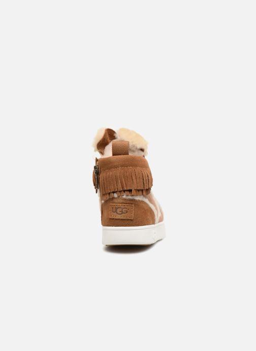 Baskets UGG K Darlala Sneaker Marron vue droite