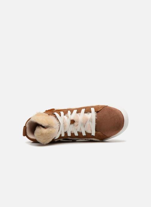 Baskets UGG K Darlala Sneaker Marron vue gauche