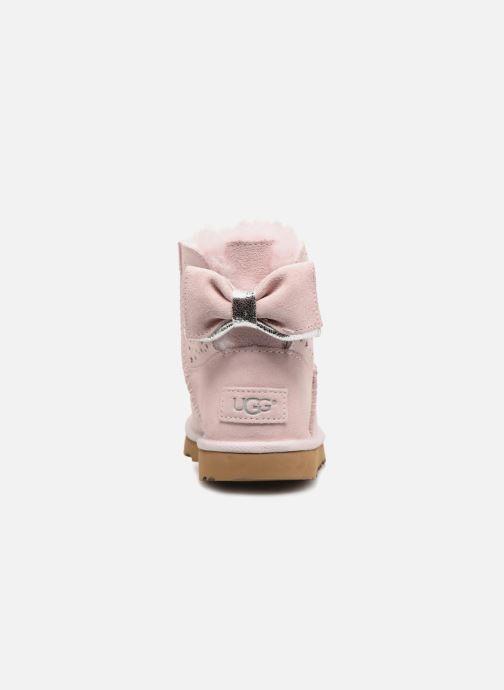 Stivali UGG Stargirl Classic Mini II Bow K Rosa immagine destra