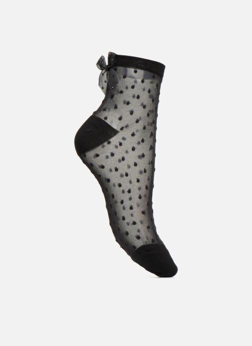 Chaussettes et collants BLEUFORÊT Chaussette Courte Plumetis nœud Noir vue détail/paire