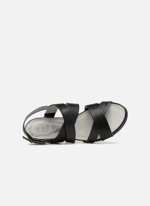 Sandals S.Oliver Cerela New Black view from the left