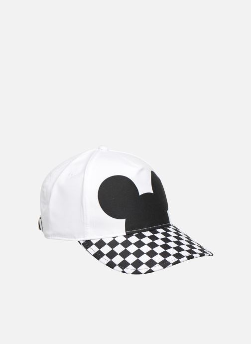 Casquettes Vans CHECKERBOARD MICKEY COURT SIDE HAT Blanc vue face