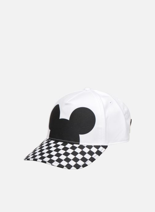 c3097202d92f8 Cap Vans CHECKERBOARD MICKEY COURT SIDE HAT White detailed view  Pair view