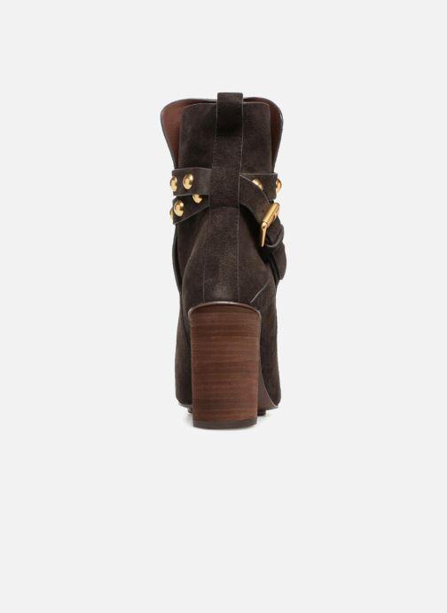 Bottines et boots See by Chloé Janis Marron vue droite