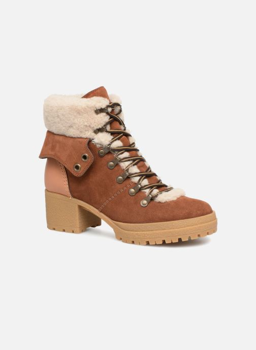 Bottines et boots See by Chloé Eileen Heel Marron vue détail/paire