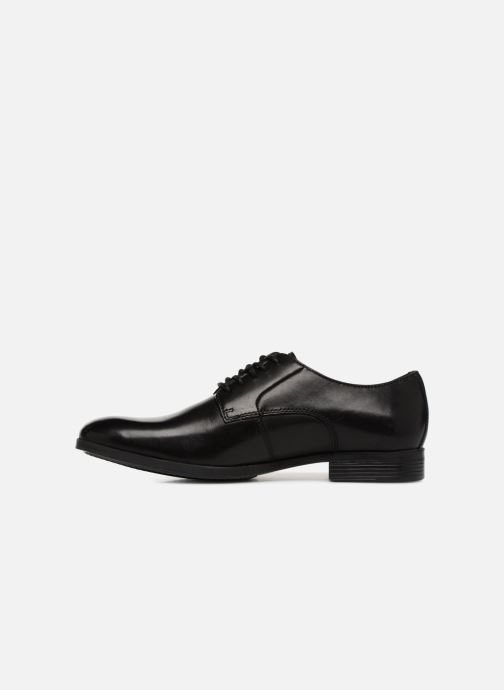 Chaussures à lacets Clarks Conwell Plain Noir vue face
