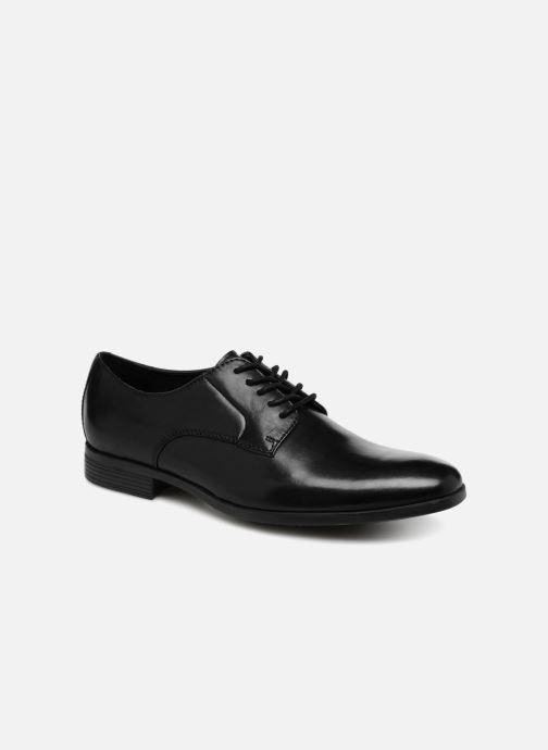 Chaussures à lacets Clarks Conwell Plain Noir vue détail/paire