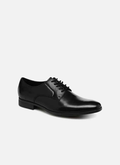 Lace-up shoes Clarks Conwell Plain Black detailed view/ Pair view