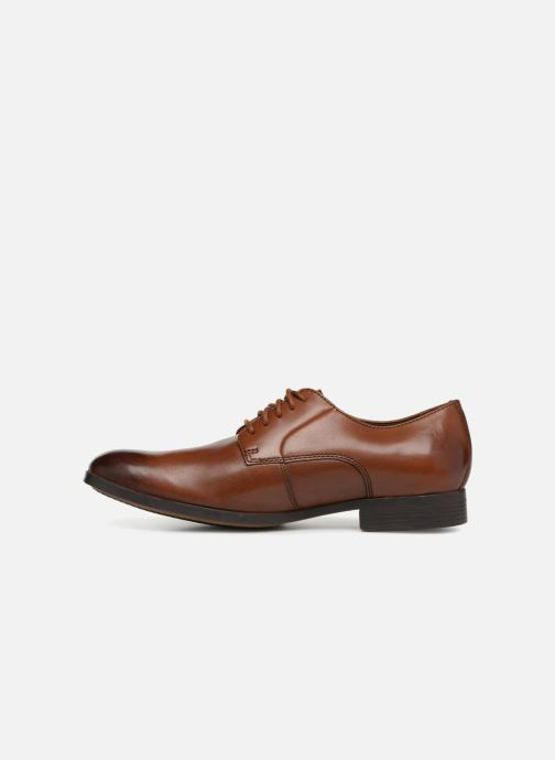 Lace-up shoes Clarks Conwell Plain Brown front view