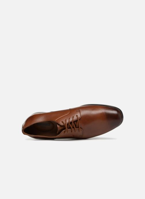 Lace-up shoes Clarks Conwell Plain Brown view from the left