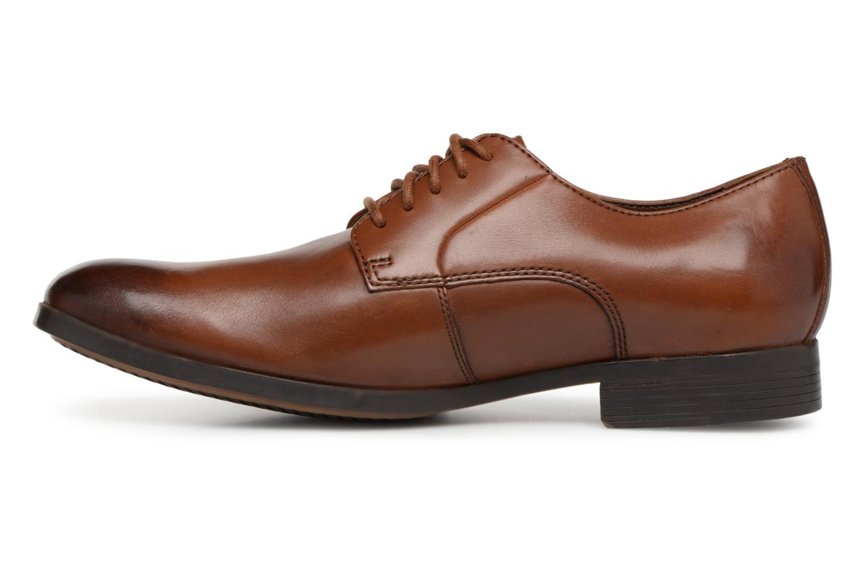 Chaussures à lacets Clarks Conwell Plain Marron vue face