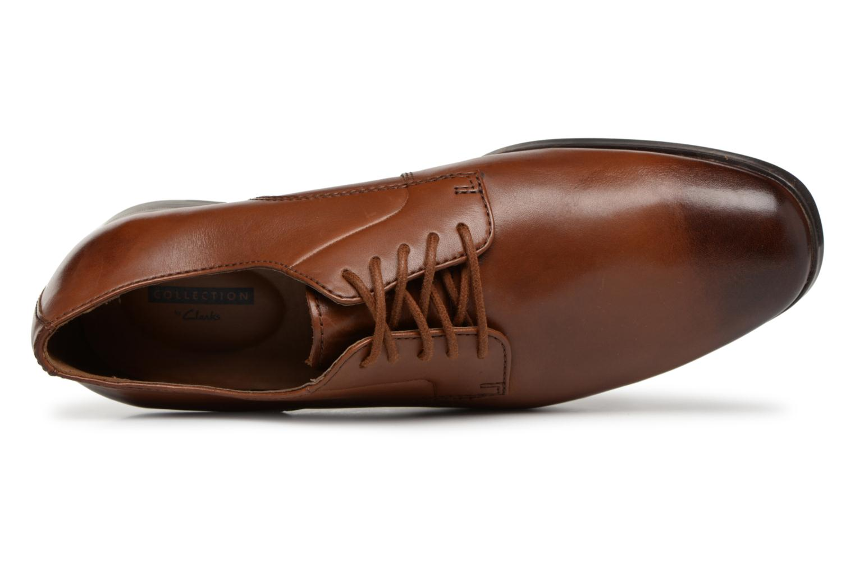 Chaussures à lacets Clarks Conwell Plain Marron vue gauche