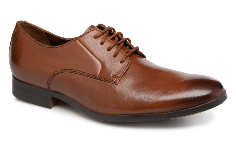 Chaussures à lacets Clarks Conwell Plain Marron vue détail/paire