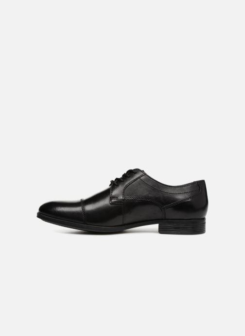 Chaussures à lacets Clarks Conwell Cap Noir vue face