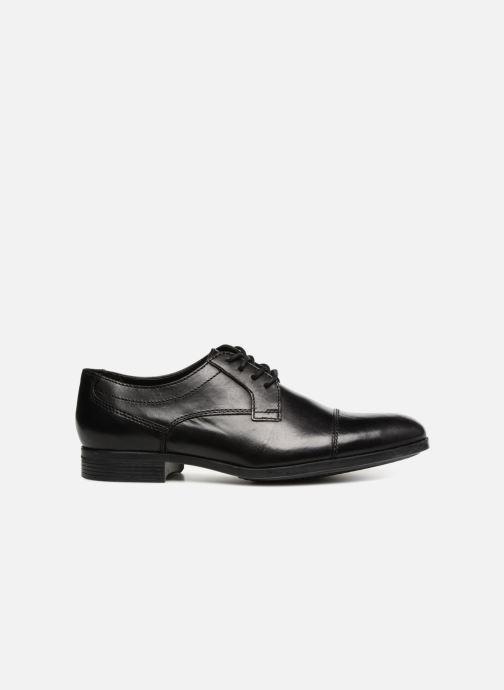 Chaussures à lacets Clarks Conwell Cap Noir vue derrière