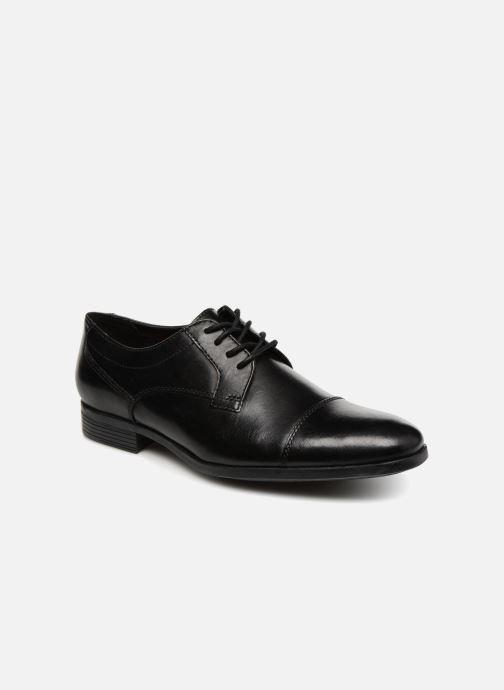 Chaussures à lacets Clarks Conwell Cap Noir vue détail/paire