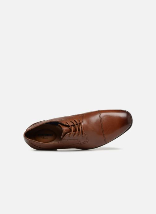 Lace-up shoes Clarks Conwell Cap Brown view from the left