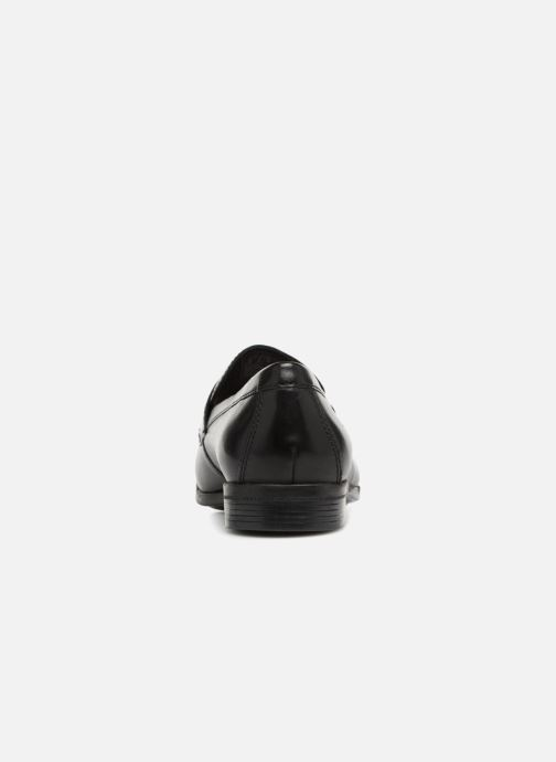 Mocasines Clarks Conwell Way Negro vista lateral derecha