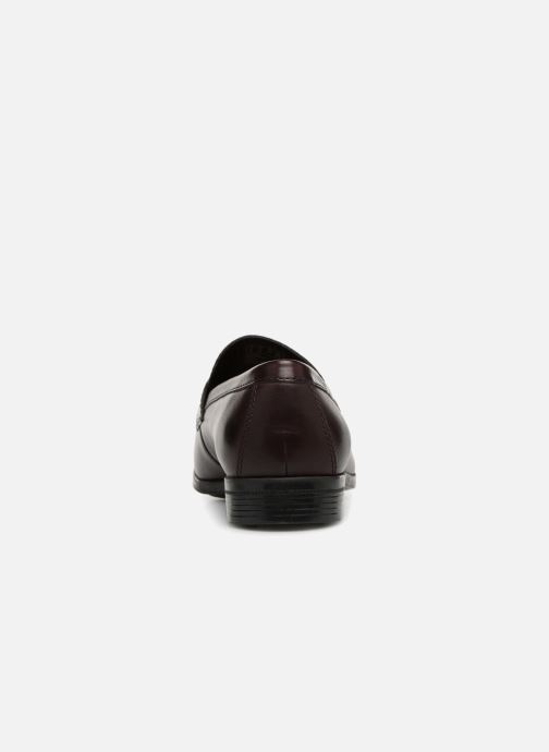 Loafers Clarks Conwell Way Burgundy view from the right