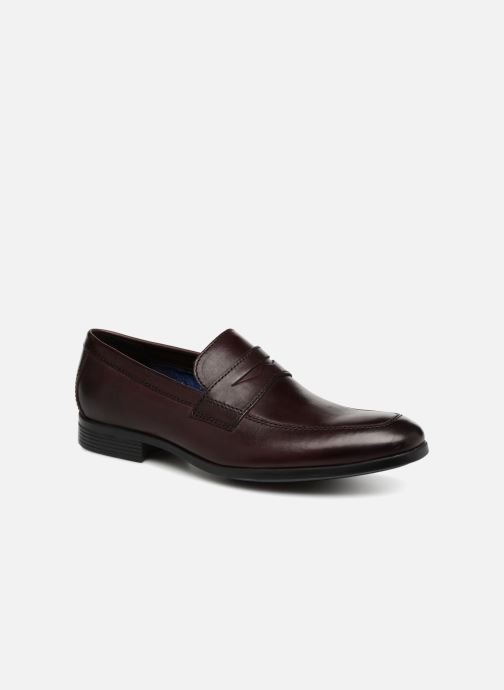 Loafers Clarks Conwell Way Burgundy detailed view/ Pair view