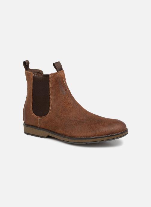 Bottines et boots Clarks Hinman Chelsea Marron vue détail/paire