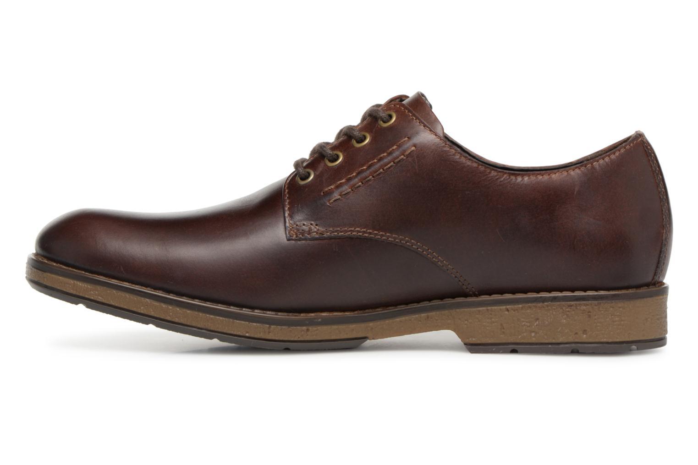 Chaussures à lacets Clarks Hinman Plain Marron vue face
