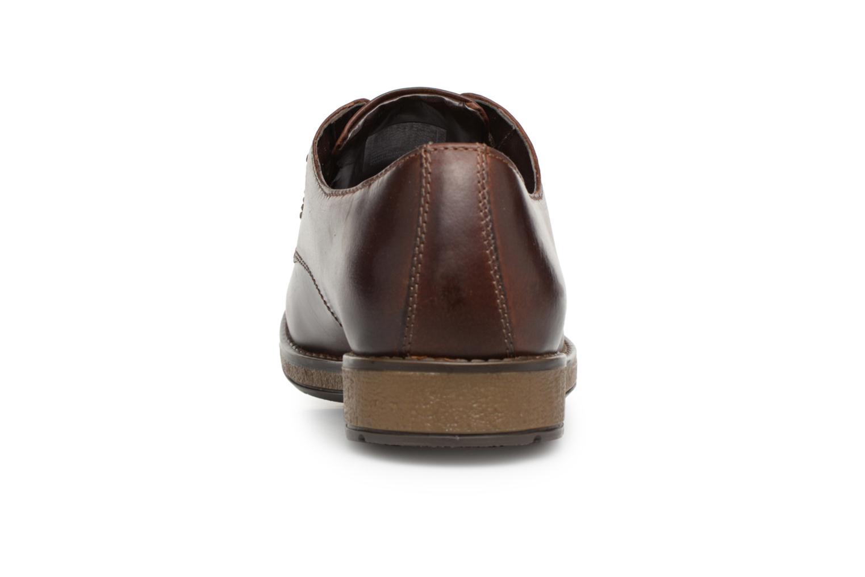 Chaussures à lacets Clarks Hinman Plain Marron vue droite