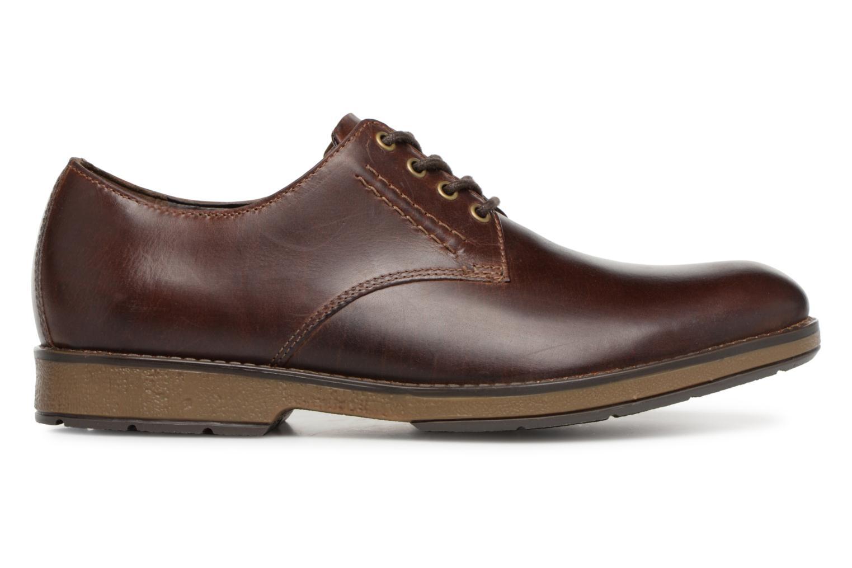 Chaussures à lacets Clarks Hinman Plain Marron vue derrière